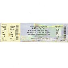 LADY GAGA Concert Ticket Stub LAS VEGAS NV 1/26/13 MGM GRAND BORN THIS WAY TOUR