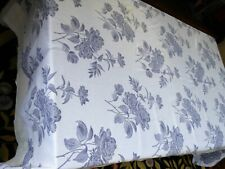 New listing Vintage Tablecloth Damask Cotton Peonies 81x64 Tag Emilio Gatti Made In Italy