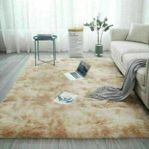 Fluffy Large-Rugs Anti-Slip Soft Carpet Mat Floor Living Room Bedroom Rug Decor