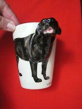 Blue Witch 3D Labrador Retriever Dog Ceramic Hand Crafted Coffee Mug Head Hndle