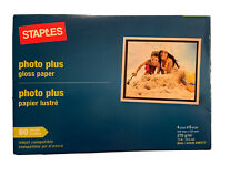 Staples Photo Plus Gloss Paper 4x6 - 60 Sheet  (New & Sealed)