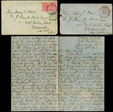 JAMAICA 1903-08 VERY LONG LETTERS to MARY E DAVIS...PORT ANTONIO from JENNY