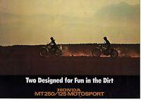 1973 HONDA MT250/125 2 Page Motorcycle Brochure NOS
