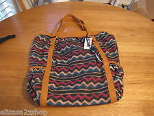 large tote bag shopper purse beach shoulder NEW handbag O'Neill brown surf skate
