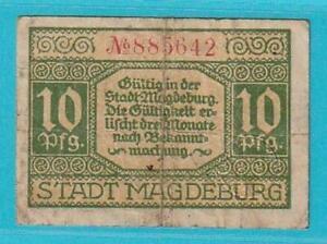 Notgeld 39104 Magdeburg 10 Pfennig aus 1920