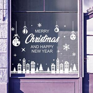 Christmas Shop Window Stickers Decals Display Xmas Wall Stickers Festive B61