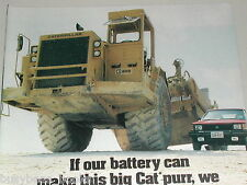 1984 Interstate Battery advertisement with Caterpillar 6310 earth mover