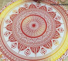 Round Beach Towel Indian Roundie Tapestry  Meditation Yoga Mat Ethnic Throw Soft