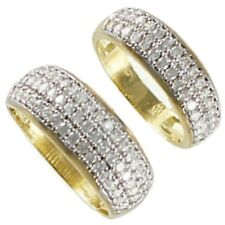 Gold 10k His & Her Solid Yellow White Gold Duo Wedding Ring Band Set Size 5-13