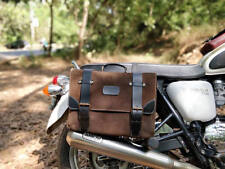CAFE RACER - HYBRID SADDLEBAG WARRIOR Brown Suede w/ Black harness