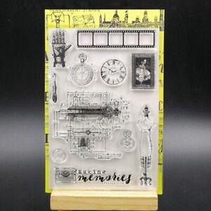 Vintage Memories Transparent Silicone Stamp For DIY Scrapbooking Photo Album