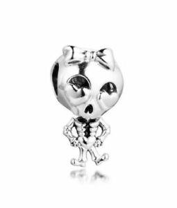Skeleton Girl Halloween Charm 925 Sterling Silver 💞 Fits Moments Bracelets