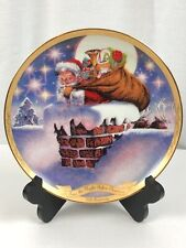 The Night Before Christmas 175th Anniv Plate Third Issue Down the Chimney #1473A