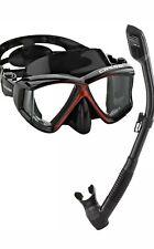 Cressi Pano 4 Dry Combo Snorkle Set Black/red