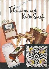 Crochet PATTERN Booklet Telivision & Radio Scarfs