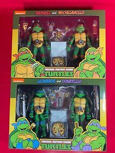 """Teenage Mutant Ninja Turtles (Cartoon) - 7"""" - 2 x 2 Packs All 4 Turtles"""