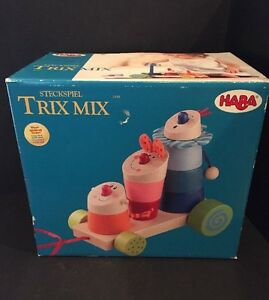 HABA Stack And Pull Trix Mix New