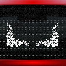 Hibiscus #14 Pair Hawaiian Flower Cute Car Decal Window Sticker (20 COLORS!)