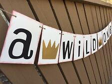 Where the Wild Things Are ONE Birthday Party Banner 1st Birthday Garland Bunting