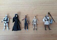 Star Wars Figures Stormtrooper Kylo Ren Rey Finn Qui Gon Jinn Hasbro 10cm