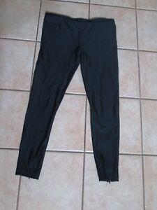"Bike Nashbar Tights Pants Zip Ankles Black Drawstring XL Runs Small 36"" W 28"" IS"