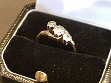 18ct Gold Engagement Ring set with Three Diamonds. Size K. 2.06 Grams. (47)