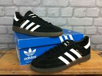 ADIDAS OG MENS UK 9 EU 43 1/3 HANDBALL SPEZIAL BLACK SUEDE GUM SOLE TRAINERS  EP