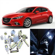 9pcs White Interior LED Light Package Kit for Mazda 3 2014-2015