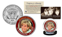 PRINCESS DIANA 20th Anniversary KENNEDY U.S. Half Dollar Coin - Red Rim Edition