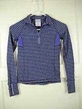 IVIVVA by Lululemon 1/4 Zip Pullover Purple Stripe Long Sleeve Top Shirt Girls 8