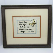 Psalm 119:18 & Butterfly Lovely Inspirational Cross Stitch Embroidered Picture