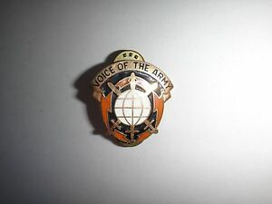 US ARMY Information Systems Command VOICE OF ARMY Distinctive Unit Insignia