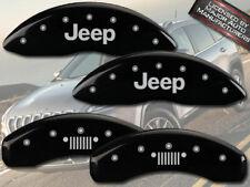 "2008-2012 ""Jeep"" Liberty Front + Rear Black MGP Brake Disc Caliper Covers Grill"