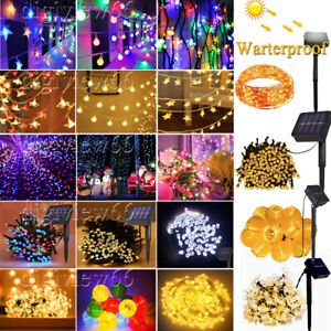10-300 LED Solar String Fairy Lights  Waterproof for Outdoor Garden Party Decor