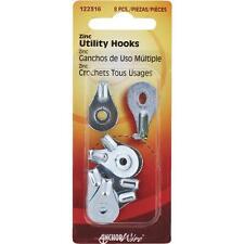 100 Pk Hillman Anchor Wire Steel Utility Household Hanger Hooks 8/Pk 122316