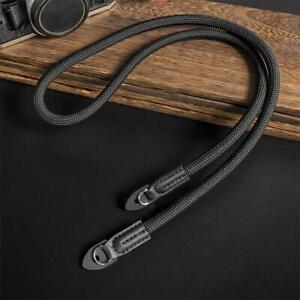 Nylon Rope Camera Shoulder Neck Strap Belt Sling for DSLR Camera Black Strap