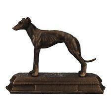Whippet Greyhound Dog Figure statue en fonte Cheminée Trophée Ornament