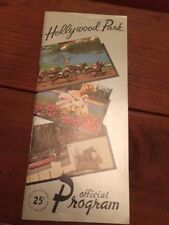 HOLLYWOOD PARK, MAY 28TH 1965 OFFICIAL PROGRAM, DEFUNCT TRACK,NO LONGER AROUND