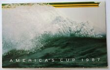 Australian Post Stamp Card 1987 America'S Cup 4 Stamps Mint Condition