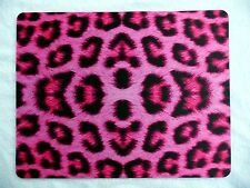 Animal Fabulous Pink Leopard Print Mouse Mat,Mouse Pad For Laptop, PC New