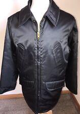 Sportsmaster Coat Jacket Black Made USA Mens Sz Med Nylon Rayon Blend