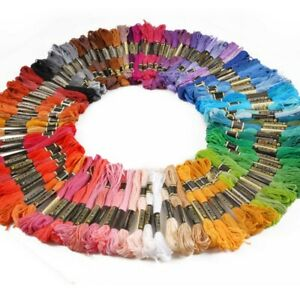 100 Pcs/Set DMC Cross Stitch Cotton Embroidery Thread Floss Sewing Skein Crafts