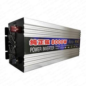 Pure Sine Wave Inverter Peak 8000W (RMS 4000W) DC12V/24V/48V/60V To AC 220V 50HZ