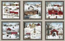 Heading Home Panel-Sepia-Elizabeth Studios-Barns-Covered Bridges-Snow-Horse