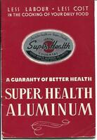 SUPER HEALTH COOKWARE RECIPE INSTRUCTION BOOK MANUAL VINTAGE ADVERTISING