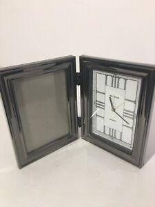 Bulova Quartz Fold Out Picture Frame Clock, Beautiful
