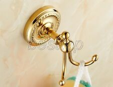 Gold Color Brass Wall Mounted Bathroom Hardware Robe Hook Hangers sba606