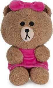 "GUND Line Friends 7"" CHOCO the bear Brown's sister seated Stuff Animal Plush NWT"