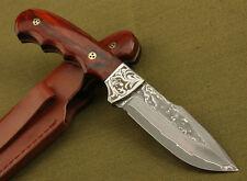 Couteau de chasse-Lame-Damascus-Knife-Outdoor-en acier forgé-survie-chasse-forgé