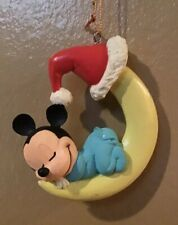 Disney MICKEY MOUSE SLEEPING ON THE MOON Holiday Ornament